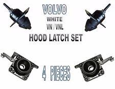 Volvo White, VN, VNL  Hood Release SET (4 PCS) Upper & Lower Latches