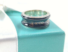 NEW Tiffany & Co Midnight Black Titanium NY 1837 Ring Size 5 Sterling Silver 925