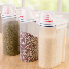 Creative Plastic Kitchen Food Cereal Grain Bean Rice Storage Container Box