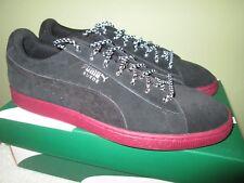 PUMA Mens Suede Classic Weatherproof Sneaker, Black-Tibetan Red, 11 M US NIB