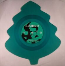 Santa Claus Is Back in Town Limited Christmas Tree Shaped Green Vinyl Elvis PR