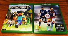 LOTTO GIOCHI PER XBOX ONE, MINECRAFT ONE EDITION + FIFA16