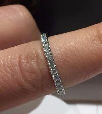PLATINUM 0.75CT FVS ROUND CUT DIAMONDS FULL ETERNITY LADY RING GOY503