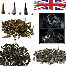 Spike Long Cone Punk Studs Rivets 29x10mm for Leather Crafts Clothes Shoes x 100