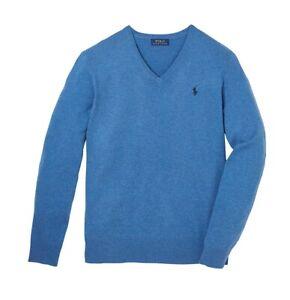 Ralph Lauren V Neck Jumper BNWT size 1XB Mens Big & Tall Blue Wool Sweater