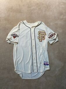 2013 SF Giants TEAM ISSUED ALT HOME RING CEREMONY Jersey MLB HOLOGRAM SIZE 48