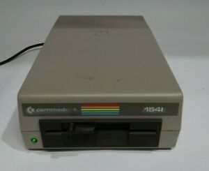 """Vintage Commodore 64 Model 1541 5-1/4"""" Floppy Disk Drive Tested for Power"""