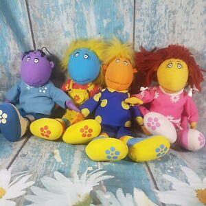 Vintage Cbeebies Tweenies Soft Toys Plush Milo/Jake/Bella & Fizz Hasbro BBC