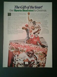 1979 Walter Payton Bears Football Sports Illustrated Christmas Oddball Promo Ad