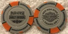 Paradise Harley-Davidson® in Tigard, OR Collector Poker Chip Tan/Orange NEW
