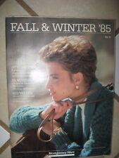 Vintage 1985 Montgomery Ward Fall/Winter Catalog