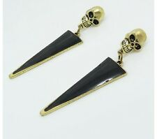 Retro Minimalist Atmosphere Skull black Triangle Drip Hot Selling stud Earring