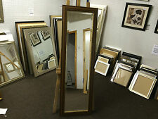NEW TRADITIONAL BROWN MAHOGANY AND GOLD LONG AND FULL LENGTH DRESSING MIRRORS