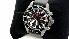 Kalashnikov Solidaridad AK-300.30.10 Chronograph Watch Black PVD Plated Russian