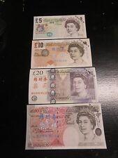 FANTASY NOTES, CHINA BANK, G.BRITAIN 5, 10, 20 and 50 POUNDS SET, 4 PCS