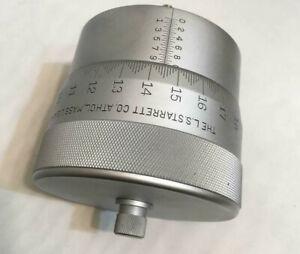 Starrett T469H Super Precision Micrometer Head 1 Division .00005 4'' OD