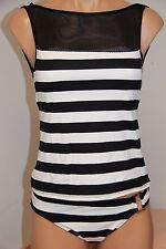 NWT Ralph Lauren Swimwear Tankini 2pc Set Size 16 Black White