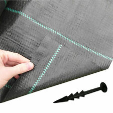 Yuzet 2m x 10m 100g + 40 pegs Weed Control Ground Cover Driveway Membrane Fabric