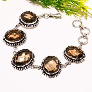Smoky Topaz Gemstone Handmade Ethnic Fashion Jewelry Bracelet SB1507