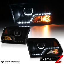 [SINISTER BLACK]2009-2018 Dodge Ram 1500 2500 3500 Smoke LED Projector Headlight