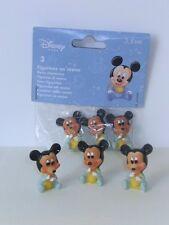 LOTTO 3 Topolino baby celeste cm 3,5 Disney - Bomboniera FAI DA TE