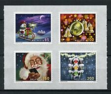 Switzerland 2017 MNH Christmas Father Christmas Snowman 4v S/A Set Stamps