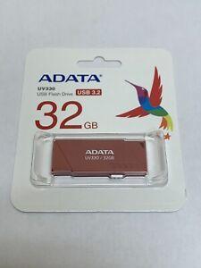 Adata UV330 USB 3.2 Retractable Flash Drive 32GB 64GB Genuine New