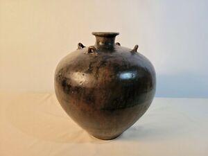 Brown Globular Jar from Sawankhalok, Thailand (15th Century)