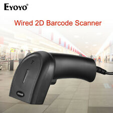Eyoyo Handheld 2D Wired Barcode Scanner Bar Code Reader for Computer Laptop PC