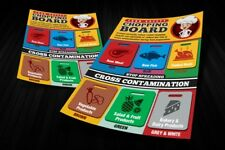 Cross Contamination, chopping boards, health and safety poster kids educational