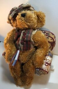 Avon Teddy Bear 12 inch Plush Chester Hat Box Teddies Canada with Chair and Hat