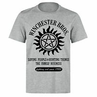 SUPERNATURAL THE WINCHESTER BROTHERS HUNTING THINGS SINCE 1983 GREY T-SHIRT