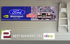 Mk2 Ford Escort 1800 Sport Banner for Workshop, Garage, Monte Carlo Rallye