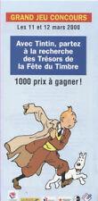 TINTIN DEPLIANT DE LA POSTE FRANCAISE DE MARS 2000
