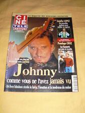 JOHNNY HALLYDAY Ciné télé revue N°108 février 2001