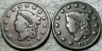1826 1829 Coronet Head Large Cent  ---- Nice Type Coin Lot ---- #H987