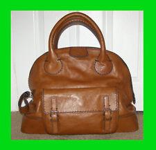 NEW RARE $1660+ tax Chloe Edith Bowler Large Bag in Muscat Brown Leather handbag