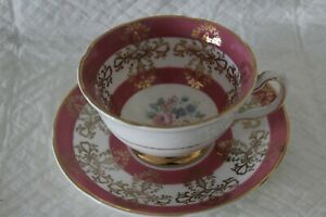 Royal Grafton Pink Floral Bouquet Cup & Saucer