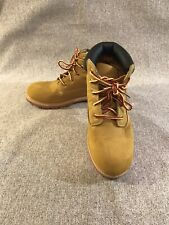 BOY`S FADED GLORY TUCKER BOOTS YOUTH  LACE UP WHEAT SIZE 5