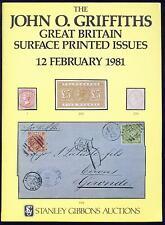 Gb superficie impresa cuestiones, John O. Griffiths Collection 1981 Subasta Catálogo