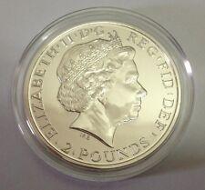 2014 £ 2 Rare Incorrect Obverse Mule Error Britannia 1 oz Silver Bullion Coin