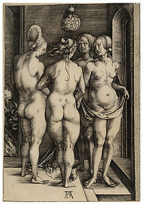 Four Naked Women Albrecht Dürer Durer engraving ca.1497