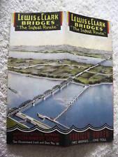 1930's LEWIS & CLARK BRIDGES ROUTE HIGHWAY ROAD MAP