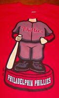 PHILADELPHIA PHILLIES MLB BOBBLEHEAD Baseball T-Shirt MEDIUM NEW