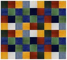 100 Mexican Talavera Handmade Tiles 4x4 Assorted  SOLID COLORS