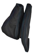 Se adapta a cubiertas de palanca de cambios Seat Cordoba Ibiza Polainas Puntada Azul