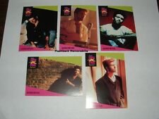 5 Pc. George Michael Pro Set Music Cards Mint 1st Edition ' Wham! ' 1991 Rare