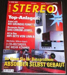 STEREO - Mai 2000 - Burmester, Gryphon, Wilson Benesch ua.