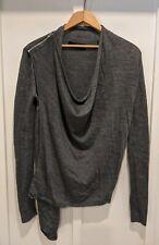 ALL SAINTS  Drina Merino Wool Gray Cardigan Zip Sweater Sz Medium