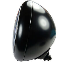 Grosser Motorrad Scheinwerfer schwarz HD Style mit Klarglas E geprüft Custombike
